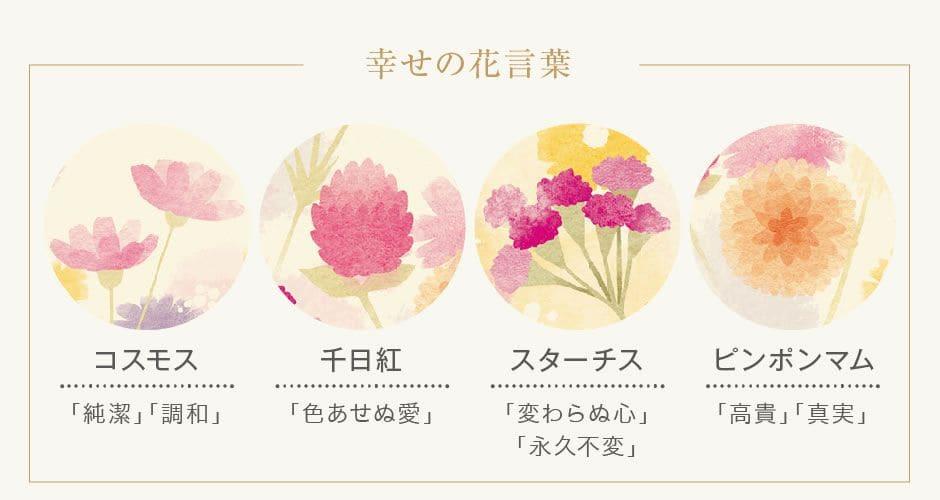幸せの花言葉