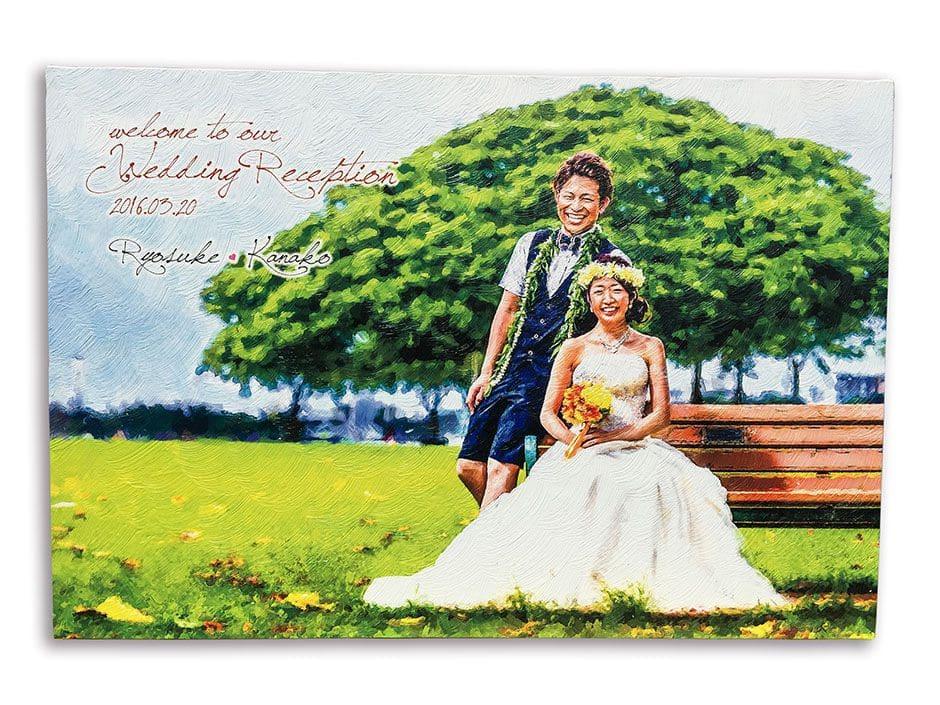 油絵風キャンバスプリント ウェルカムボード イメージ