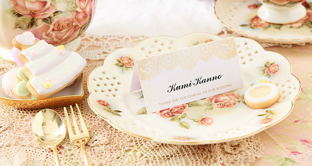 結婚式席札メッセージ
