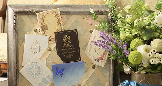 結婚式招待状の表紙の種類・加工方法について