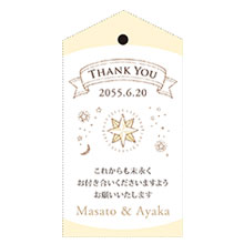 メッセージカード 星空の宴