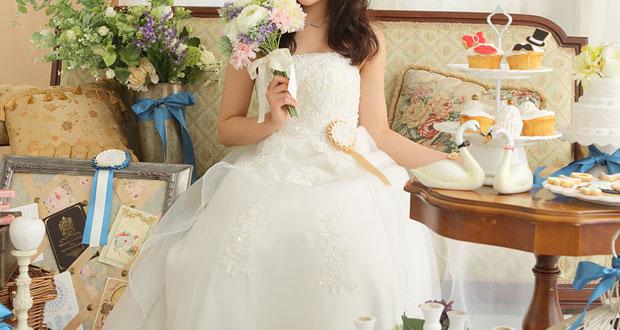 ブーケを持っている花嫁イメージ