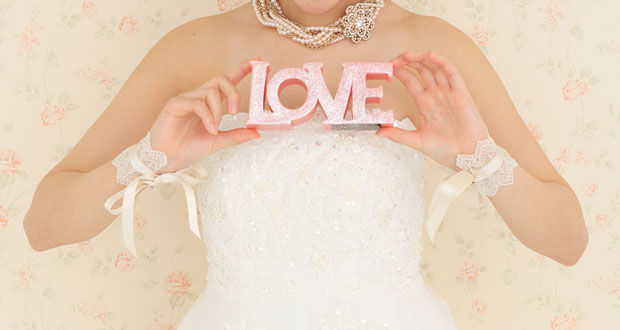 LOVEを持っている花嫁