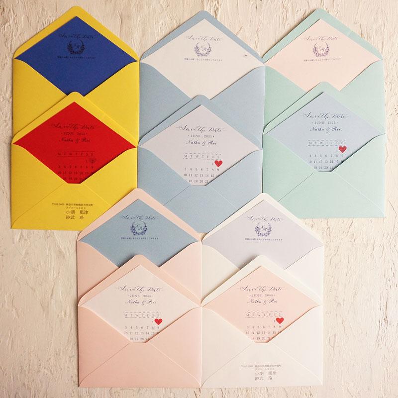 カラー封筒と飾り紙 カラーバリエーション